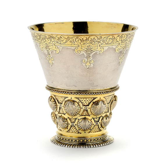 Silver beaker in the form of a Berkemeyer glass